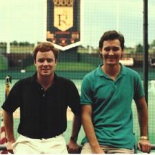 Chip & Jim at Royals Stadium in KC.